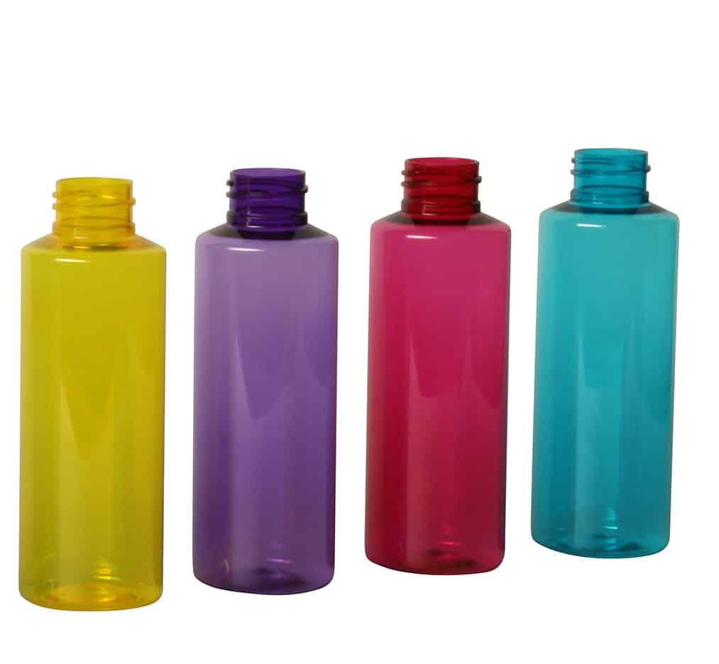 PET bottles coloured